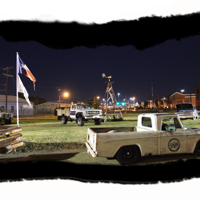 squarebody saloon at night